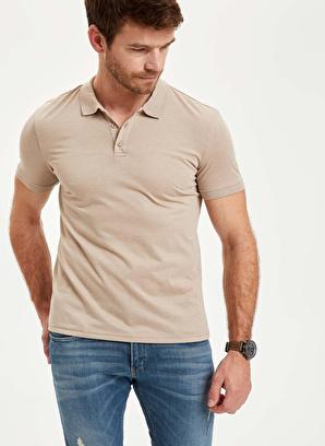 DeFacto Güvende Kal Polo Yaka Basic Slim Fit Tişört